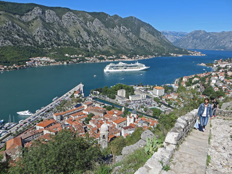 Hike to Castle in Kotor Montenegro